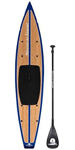 スタンドアップパドルボード マリンスポーツ サップボード SUPボード Stand on Liquid Revere Bamboo Wood 12 Feet 6 Inch Touring Stand Up Paddle Board (SUP) Package   Includes Full 100% Carboスタンドアップパドルボード マリンスポーツ サップボード SUPボード