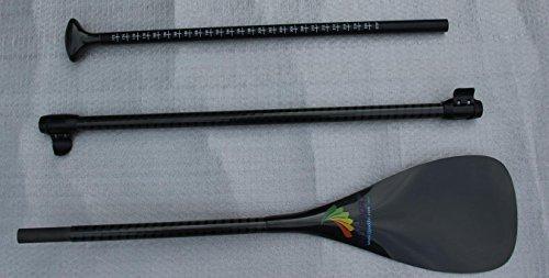 スタンドアップパドルボード マリンスポーツ サップボード SUPボード ZJ Sport 3-Piece Adjustable Carbon SUP Paddle Standup Paddleboard Paddles with Twill Carbon Shaft (TG-S(8''17.1'スタンドアップパドルボード マリンスポーツ サップボード SUPボード