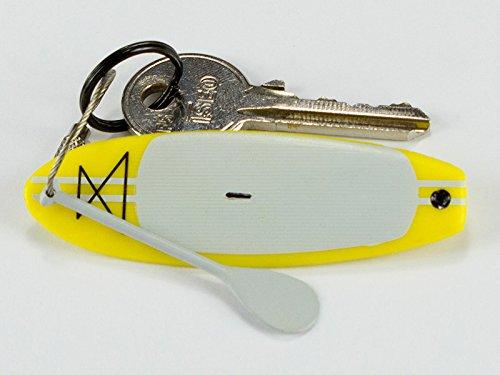 スタンドアップパドルボード マリンスポーツ サップボード SUPボード 【送料無料】HKEY SUP - Stand Up Paddle Board Keychain - Flexible PVC Plastic and Stainless Steel Ring (Yellow)スタンドアップパドルボード マリンスポーツ サップボード SUPボード