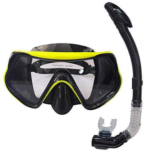 シュノーケリング マリンスポーツ 【送料無料】Rising Goods Mask and Snorkel Set for Adults - Anti-Fog Glass, Purge Valve, Snorkeling Splash Capシュノーケリング マリンスポーツ