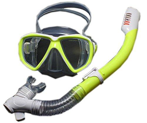 シュノーケリング マリンスポーツ PS-SPO3406281-EMILY00590 PANDA SUPERSTORE Kids Yellow Diving Mask & Dry Snorkel Set, 4-12 Yrsシュノーケリング マリンスポーツ PS-SPO3406281-EMILY00590