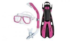 シュノーケリング マリンスポーツ 【送料無料】Mares Head Tarpon mask/Snorkel/fin Set Pink Small/Mediumシュノーケリング マリンスポーツ