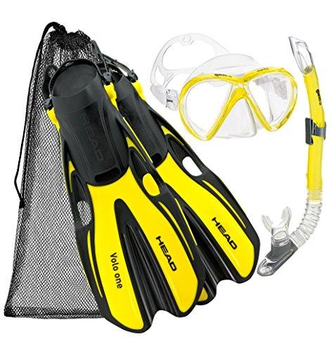 シュノーケリング マリンスポーツ Head Marlin Scuba Snorkeling Mask Fin Snorkel Set w/Bag, YL-LGシュノーケリング マリンスポーツ