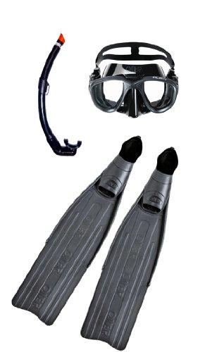 シュノーケリング マリンスポーツ OMER EagleRay Kit EagleRay Fin, Alien Mask, Zoom Snorkel Set for Free Diving or Spearfishing (42/43)シュノーケリング マリンスポーツ