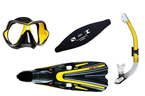 シュノーケリング マリンスポーツ Mares Mask, Fins and Snorkel Setシュノーケリング マリンスポーツ