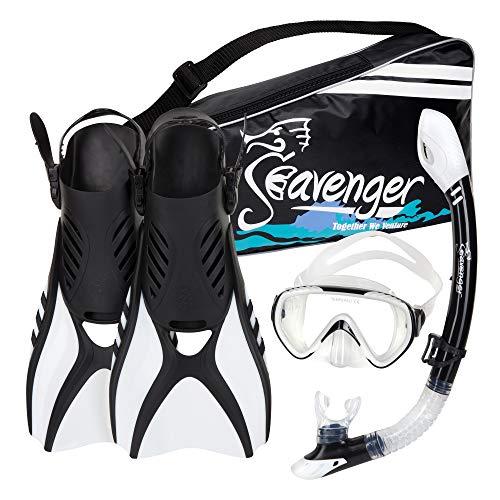 シュノーケリング マリンスポーツ SV-SET6-W-S Seavenger Diving Snorkel Set - (White) - Sシュノーケリング マリンスポーツ SV-SET6-W-S
