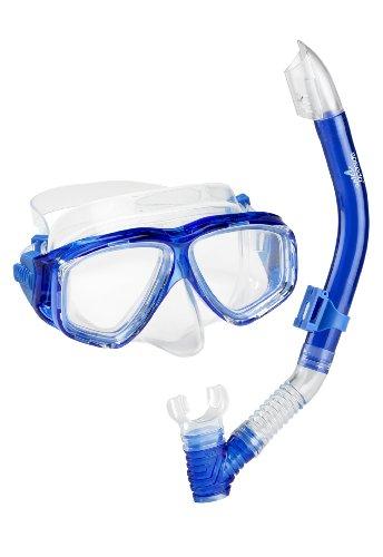 シュノーケリング マリンスポーツ 7530332-Blue-1SZ 【送料無料】Speedo Unisex-Adult Adventure Swim Mask & Snorkel Setシュノーケリング マリンスポーツ 7530332-Blue-1SZ