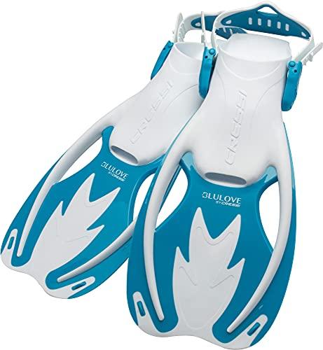 シュノーケリング マリンスポーツ Cressi Rocks fins, White/Light Blue, L/XLシュノーケリング マリンスポーツ