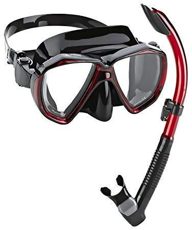シュノーケリング マリンスポーツ PAQVMSC-BRD-PP Phantom Aquatics Velocity Scuba Snorkeling Mask Snorkel Set, Black Redシュノーケリング マリンスポーツ PAQVMSC-BRD-PP