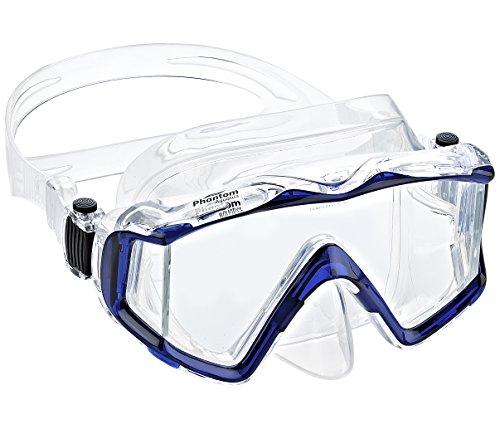 シュノーケリング マリンスポーツ PAQ3WM-CLBL 【送料無料】Phantom Aquatics Panoramic Scuba Snorkeling Dive Mask, Blueシュノーケリング マリンスポーツ PAQ3WM-CLBL
