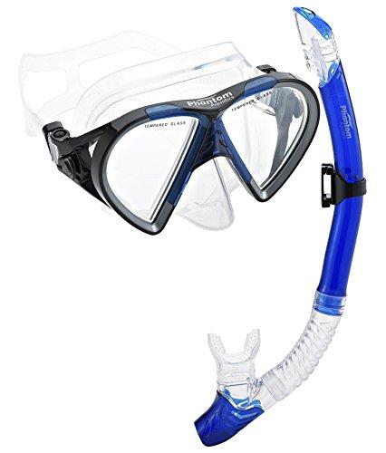 シュノーケリング マリンスポーツ PAQTEMSC-BL_3 【送料無料】Phantom Aquatics Mexico Mask Dry Snorkel Setシュノーケリング マリンスポーツ PAQTEMSC-BL_3