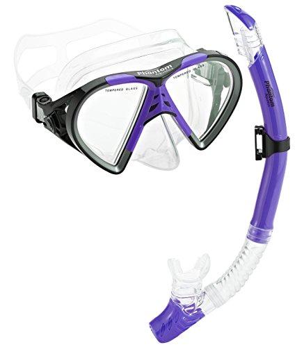シュノーケリング マリンスポーツ PAQTEMSC-PR_3 【送料無料】Phantom Aquatics Mexico Mask Dry Snorkel Setシュノーケリング マリンスポーツ PAQTEMSC-PR_3