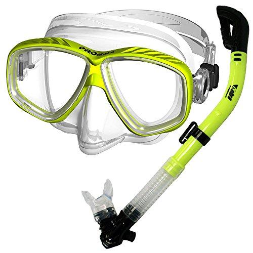 シュノーケリング マリンスポーツ SCS0030-nYellow 【送料無料】Promate Snorkeling Scuba Dive Dry Snorkel Purge Mask Gear Set, Yellowシュノーケリング マリンスポーツ SCS0030-nYellow