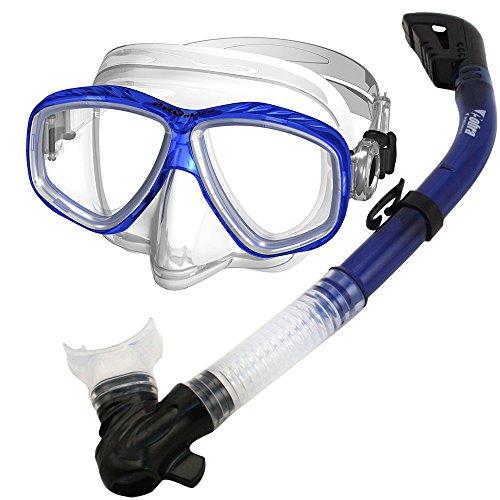 シュノーケリング マリンスポーツ SCS0030-Blue Promate Snorkel Mask Set for Scuba Diving Snorkeling, Blueシュノーケリング マリンスポーツ SCS0030-Blue