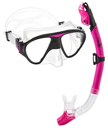 シュノーケリング マリンスポーツ C2MSC-PK 【送料無料】Phantom Aquatics Signature Mask Dry Snorkel Set, Pinkシュノーケリング マリンスポーツ C2MSC-PK