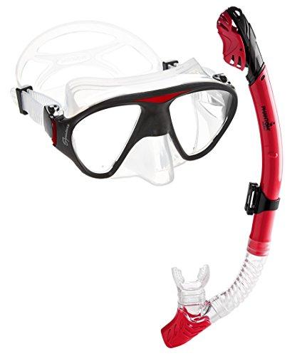 シュノーケリング マリンスポーツ C2MSC-RD Phantom Aquatics Signature Mask Dry Snorkel Set, Redシュノーケリング マリンスポーツ C2MSC-RD