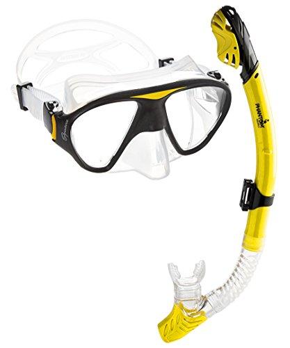 シュノーケリング マリンスポーツ C2MSC-YL 【送料無料】Phantom Aquatics Signature Mask Dry Snorkel Set, Yellowシュノーケリング マリンスポーツ C2MSC-YL