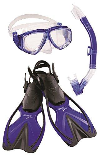 シュノーケリング マリンスポーツ 753061-Blue-S/M Speedo Jr. Adventure Mask/Snorkel/Fins Set, Small / Mediumシュノーケリング マリンスポーツ 753061-Blue-S/M