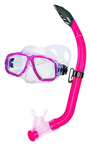 シュノーケリング マリンスポーツ MSF3514A 【送料無料】Innovative Scuba Concepts MSF3514A Junior Kids Snorkel Set, Mask, Comfortable, Anti-Leak, Anti-Fog, Adjustable, for Travel, Vacation, Fun, Translucentシュノーケリング マリンスポーツ MSF3514A