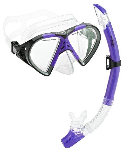 シュノーケリング マリンスポーツ PAQTEMSC-PR 【送料無料】Phantom Aquatics Cancun Mask Snorkel Combo, Purpleシュノーケリング マリンスポーツ PAQTEMSC-PR