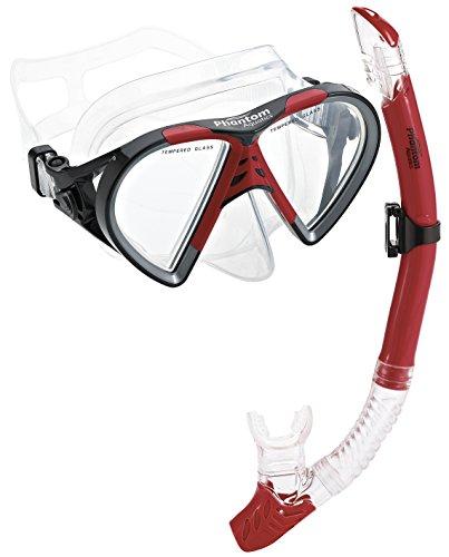 シュノーケリング マリンスポーツ PAQTEMSC-RD 【送料無料】Phantom Aquatics Cancun Mask Snorkel Combo, Redシュノーケリング マリンスポーツ PAQTEMSC-RD