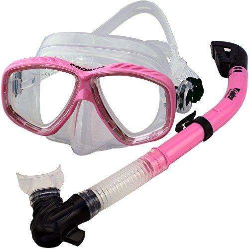 新発売の シュノーケリング マリンスポーツ PROMATE Snorkeling Scuba Dive Dive DRY Mask Scuba Snorkel Mask Gear Set, Pinkシュノーケリング マリンスポーツ, ビゼンシ:dcf5f8a5 --- canoncity.azurewebsites.net