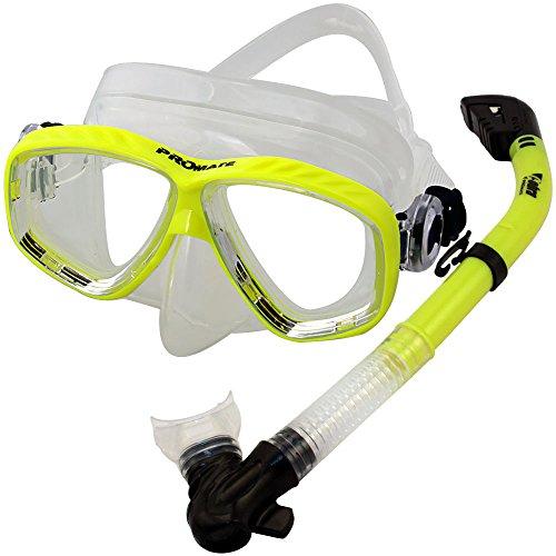 史上一番安い シュノーケリング マリンスポーツ Scuba Promate Dive Mask Dry Snorkel Dry Set for for Snorkeling Scuba Diving, Yellowシュノーケリング マリンスポーツ, 小国町:515d3d98 --- fabricadecultura.org.br