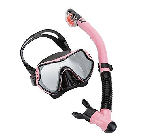 シュノーケリング マリンスポーツ Cpsports Scuba Diving Snorkeling Freediving Mask Snorkel Set for Adult (pink )シュノーケリング マリンスポーツ