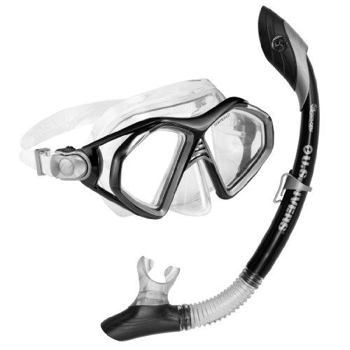 シュノーケリング マリンスポーツ 240090 U.S. Divers Admiral 2 Lx / Island Dry Adult Silicone Mask Combo (Black)シュノーケリング マリンスポーツ 240090