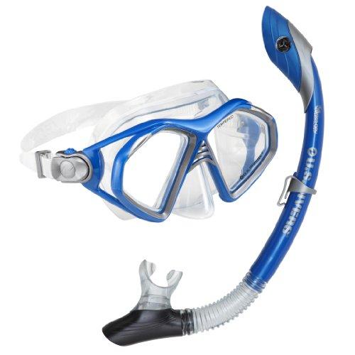 シュノーケリング マリンスポーツ 240085 U.S. Divers Admiral 2 Lx / Island Dry Adult Silicone Mask Combo (Electric Blue)シュノーケリング マリンスポーツ 240085