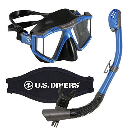 シュノーケリング マリンスポーツ LEPUSHPDJ6070 【送料無料】U.S. Divers Lux Mask Snorkel Combo With Mount for GoPro Cameras Electric Blue, Electric Blue WITH GoPro camera mountシュノーケリング マリンスポーツ LEPUSHPDJ6070