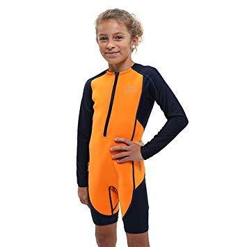 シュノーケリング マリンスポーツ LEPUSHPDJ6631 Aqua Sphere Stingray Long Sleeve Thermal Suit w/New 2017 Fit, Orange/Navy Size 10シュノーケリング マリンスポーツ LEPUSHPDJ6631