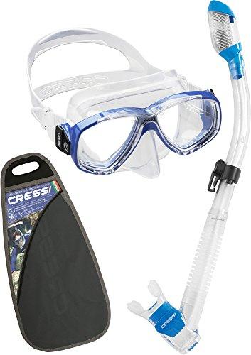 シュノーケリング マリンスポーツ 夏のアクティビティ特集 WDM1010162 Cressi Perla & Supernova Dry, clear/blueシュノーケリング マリンスポーツ 夏のアクティビティ特集 WDM1010162