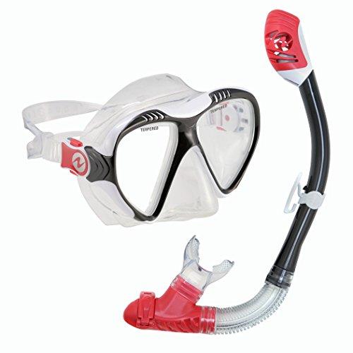 シュノーケリング マリンスポーツ 261212 【送料無料】U.S. Divers Adult Magellan Purge LX Mask/Tucson LX Snorkel, Black Redシュノーケリング マリンスポーツ 261212