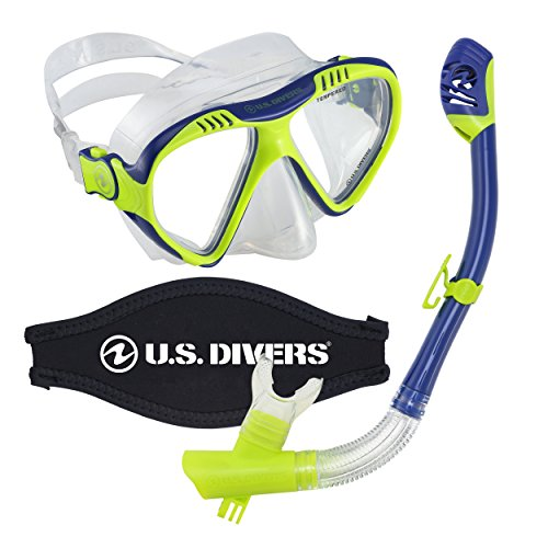 シュノーケリング マリンスポーツ LEPUSHPDJ6046 U.S. Divers Magellan Mask Snorkel Combo With Mount Compatible with GoPro cameras Blueシュノーケリング マリンスポーツ LEPUSHPDJ6046