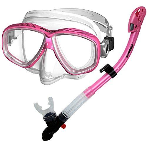 シュノーケリング マリンスポーツ 【送料無料】285890-Pink, Snorkeling Purge Mask and Dry Snorkel Combo Setシュノーケリング マリンスポーツ