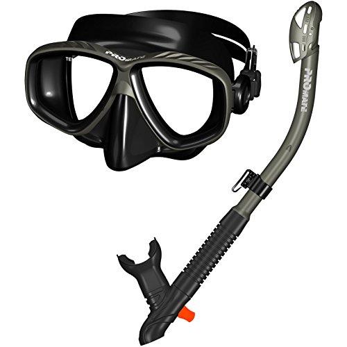 シュノーケリング マリンスポーツ 【送料無料】285890-Ti/Bk, Snorkeling Purge Mask and Dry Snorkel Combo Setシュノーケリング マリンスポーツ