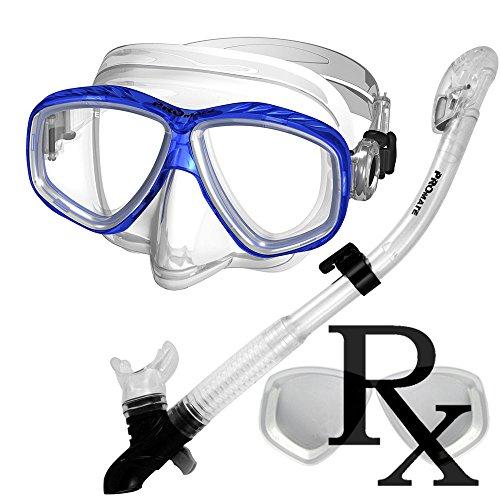 シュノーケリング マリンスポーツ 285890-Rx Lens-Dry Snorkel Prescription Snorkeling Mask Snorkel Setシュノーケリング マリンスポーツ