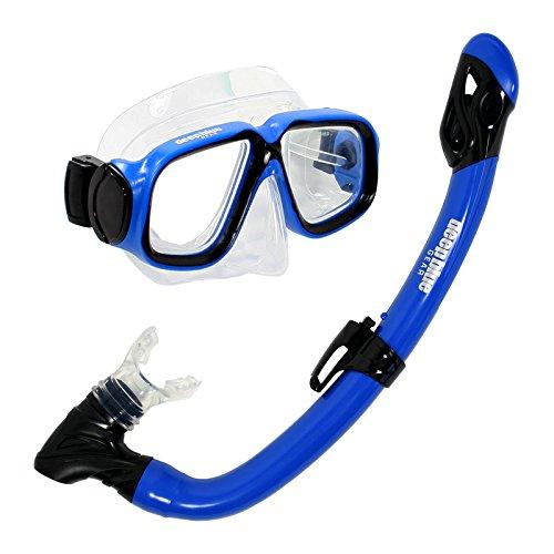 シュノーケリング マリンスポーツ DBG-CK-2850-BU Deep Blue Gear Maui Jr. Diving Mask and Dry Snorkel Set, Kid's, Blueシュノーケリング マリンスポーツ DBG-CK-2850-BU