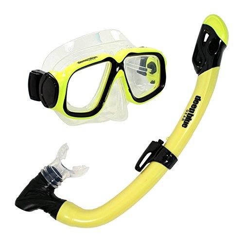 シュノーケリング マリンスポーツ DBG-CK-2850-YL Deep Blue Gear Maui Jr. Diving Mask and Dry Snorkel Set, Kid's, Yellowシュノーケリング マリンスポーツ DBG-CK-2850-YL