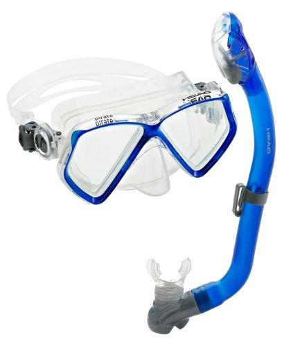 シュノーケリング マリンスポーツ 481223-GUBL CL HEAD Pirate Dry Mask And Snorkel Jr Youth Combo, Blue/Clearシュノーケリング マリンスポーツ 481223-GUBL CL
