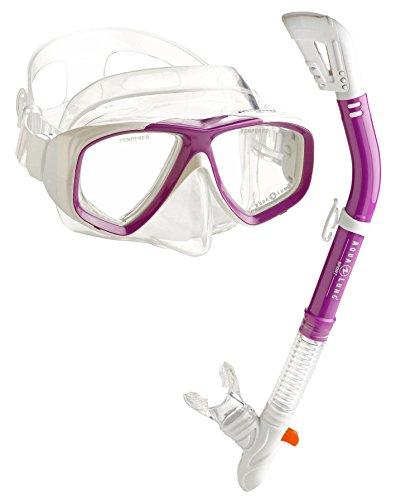 シュノーケリング マリンスポーツ 【送料無料】Aqua Lung Scuba Snorkeling Dive Mask Dry Snorkel Setシュノーケリング マリンスポーツ