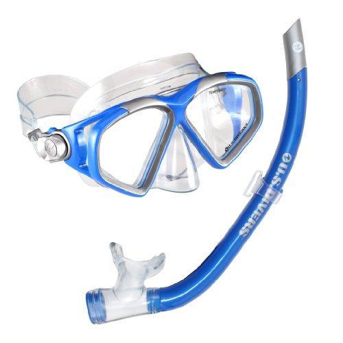 シュノーケリング マリンスポーツ 240055 U.S. Divers Cozumel LX Mask and Airent Snorkel, Electric Blueシュノーケリング マリンスポーツ 240055