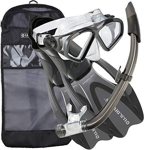 シュノーケリング マリンスポーツ FBA_244330 【送料無料】U.S. Divers Adult Cozumel Mask/Seabreeze II Snorkel/Proflex Fins/Gearbag, Small, Titaniumシュノーケリング マリンスポーツ FBA_244330