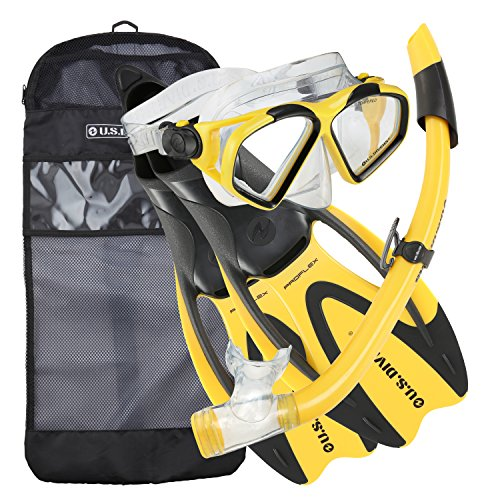 シュノーケリング マリンスポーツ 244375 U.S. Divers Cozumel Snorkeling Set - Adult Mask, Proflex Fins, Splash Guard Snorkel + Gear Bagシュノーケリング マリンスポーツ 244375