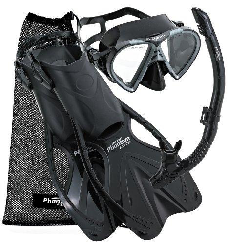 シュノーケリング マリンスポーツ PAQSMFS BK-SM Phantom Aquatics Speed Sport Mask Fin Snorkel Set, Adultシュノーケリング マリンスポーツ PAQSMFS BK-SM