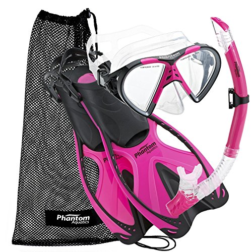 シュノーケリング マリンスポーツ PAQSMFS PK-SM Phantom Aquatics Adult Speed Sport Mask Fin Snorkel Setシュノーケリング マリンスポーツ PAQSMFS PK-SM