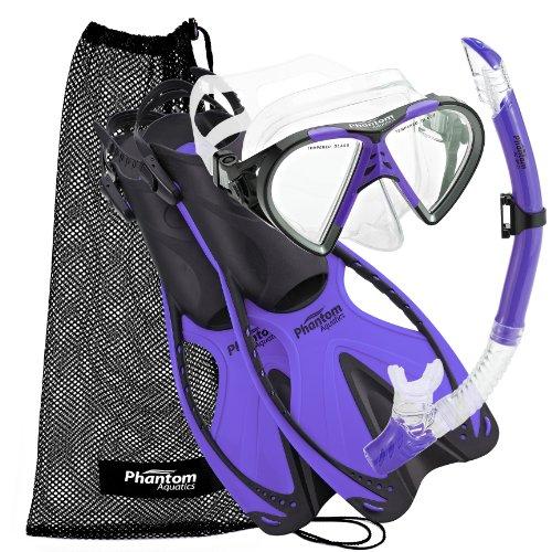 シュノーケリング マリンスポーツ PAQSMFS PR-SM Phantom Aquatics Adult Speed Sport Mask Fin Snorkel Setシュノーケリング マリンスポーツ PAQSMFS PR-SM