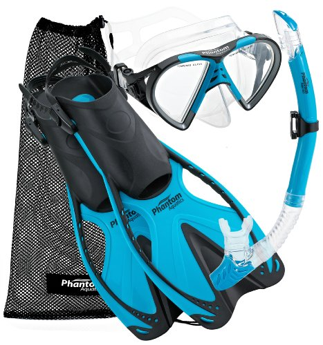 シュノーケリング マリンスポーツ PAQSMFS AQ-LG 【送料無料】Phantom Aquatics Speed Sport Mask Fin Snorkel Set, Adultシュノーケリング マリンスポーツ PAQSMFS AQ-LG