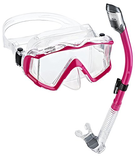 シュノーケリング マリンスポーツ PAQPMSC-PK Phantom Aquatics Panoramic Scuba Mask Snorkel Set, Pinkシュノーケリング マリンスポーツ PAQPMSC-PK